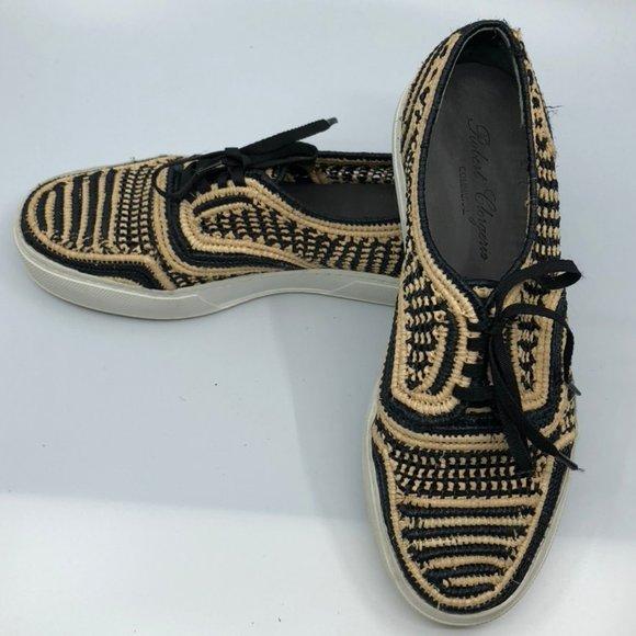 Robert Clergerie Communal Paga Woven Raffia Shoes